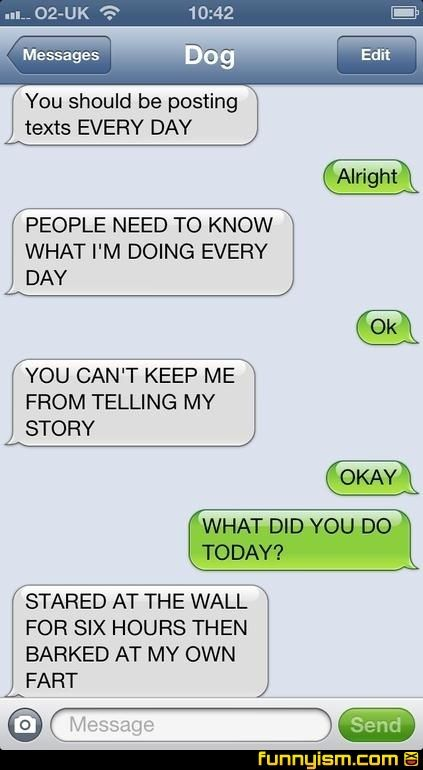 I Love These Dog Texts Conversations Funnyism Picture Funny
