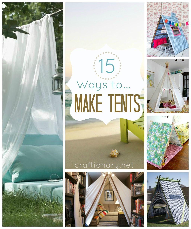 15 ways to make tent diy tent tents. Black Bedroom Furniture Sets. Home Design Ideas