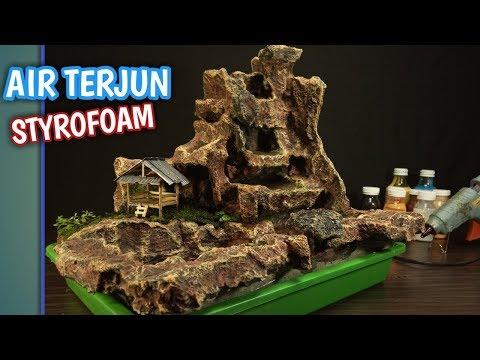 Ide Kreatif Membuat Air Terjun Mini Dari Styrofoam Motif Tebing Batu Youtube Kreatif Ide Air Terjun