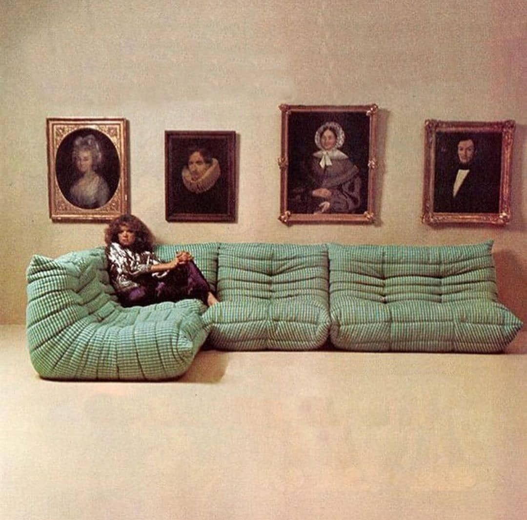 "Marta Malavasi on Instagram: ""Togo Sofa, Michel Ducaroy for @ligneroset, 1973. . . . . . #interior #interiordesign #industrialdesign #sofa #furniture #michelducaroy…"""