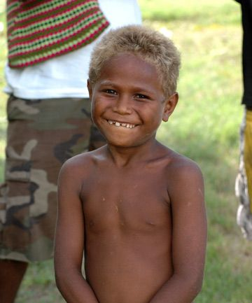 New Genetic Line Of Blond Hair Discovered Melanesian People Black And Blonde People