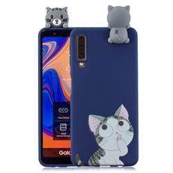 Big Face Cat Soft 3D Climbing Doll Soft Case for Samsung Galaxy A7 (2018) A750 - Galaxy A7 2018 Cases - Guuds
