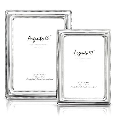 Argento Double Bead Sterling Silver Frame Silver Frame Silver