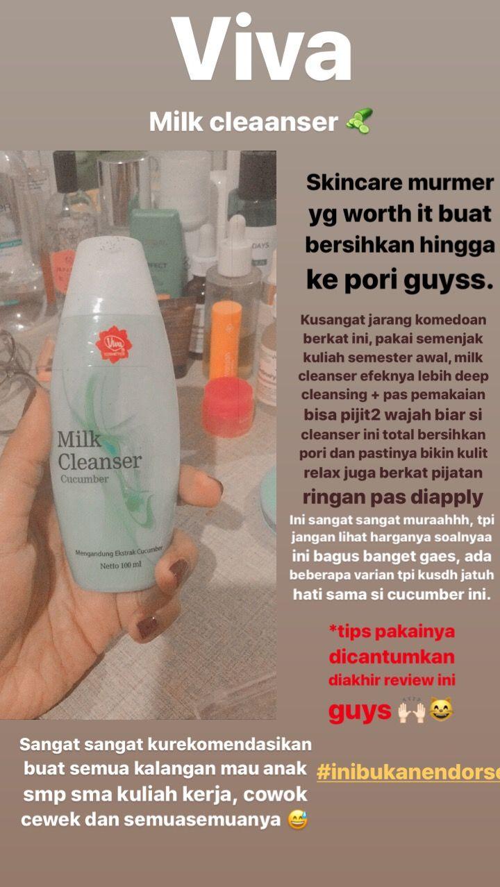 Review Viva Milk Cleanser Cucumber Untuk Jerawat