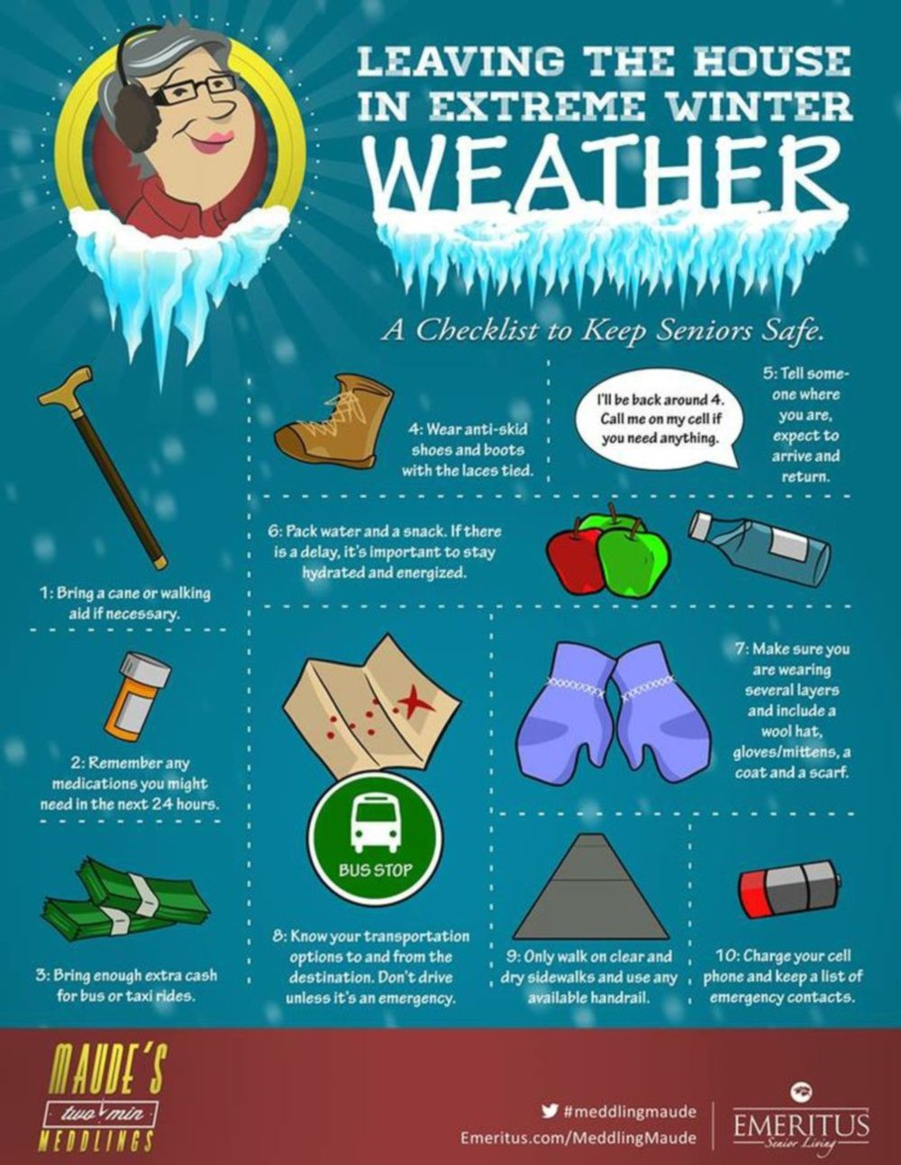 Winter Safety Tips for Seniors Health, safety, Stress