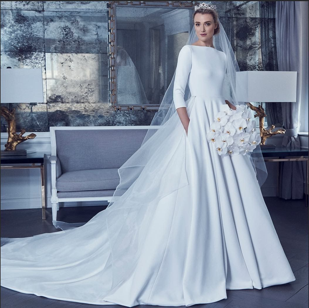 Traditional Wedding Gowns With Long Sleeves: Romona Keveza Wedding Dress