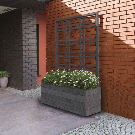 Jardinera de madera con celos a shopping pinterest for Celosia de madera para jardin