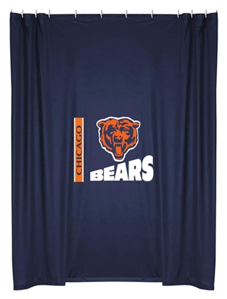 Chicago Bears Shower Curtain Basement Bathroom Lol For My Hubby Promised A Bears Bathroom In His Man Cave Nfl