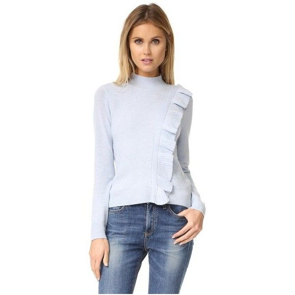 Rebecca Taylor Diagonal Ruffle Sweater (1,315 SAR) ❤ liked on ...