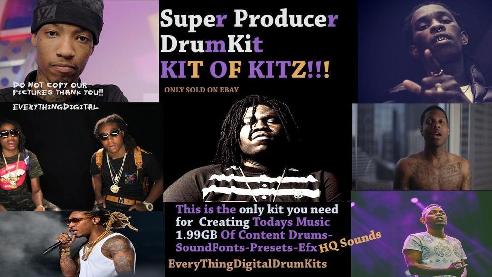 Drum Samples Loops Producer Kit Trap Kit Hip Hop FL STUDIO