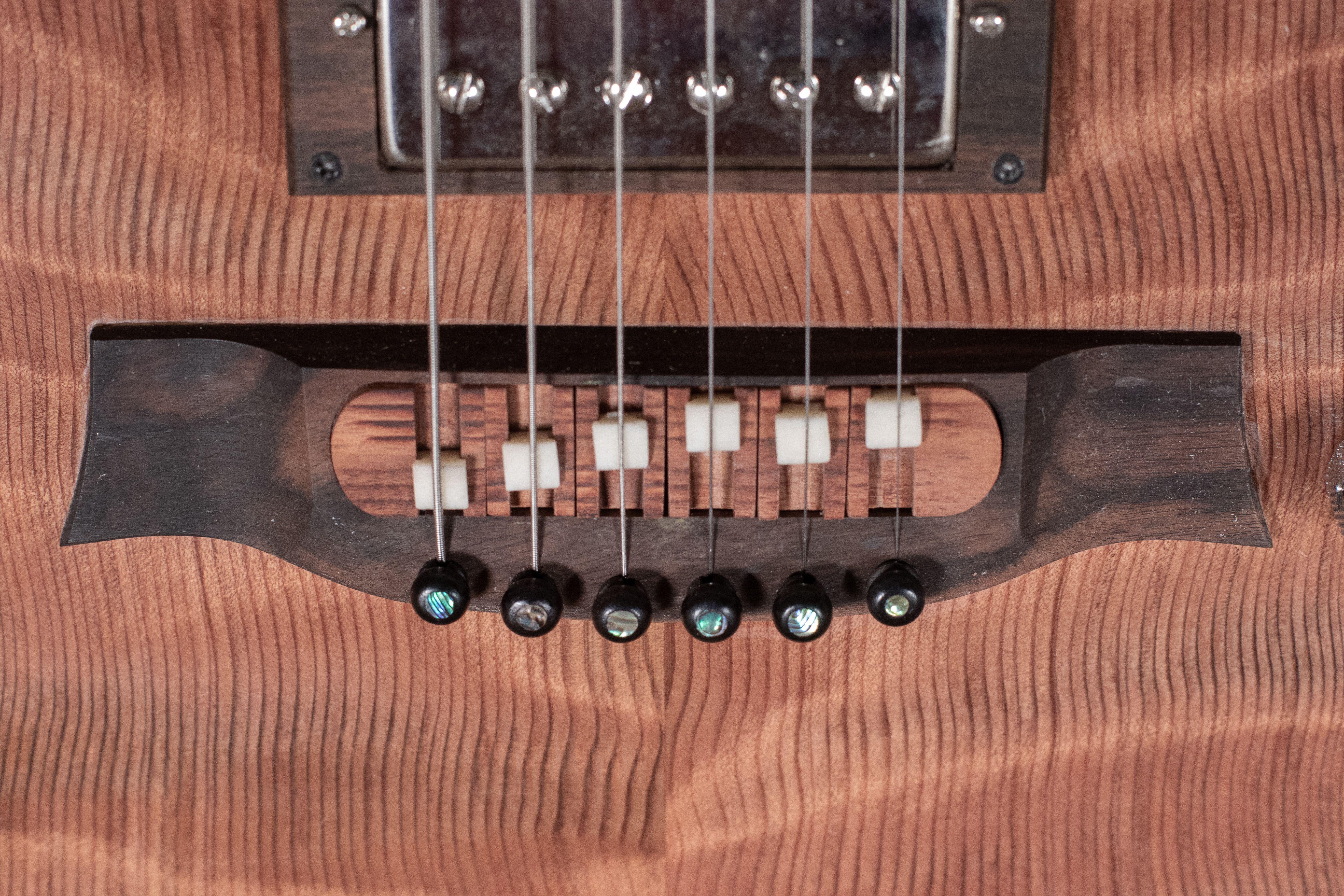 Split Saddle Bridge For Electric Guitars Electro Acoustic Guitar Guitar Design Guitar
