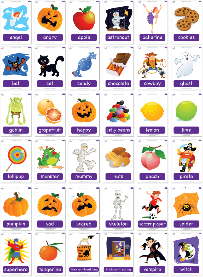 Free Halloween Flashcard Set From Super Simple Learning