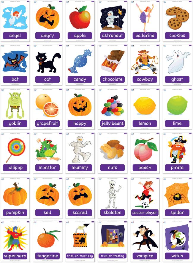 Free Halloween flashcard set | Halloween | Pinterest | Flashcard ...