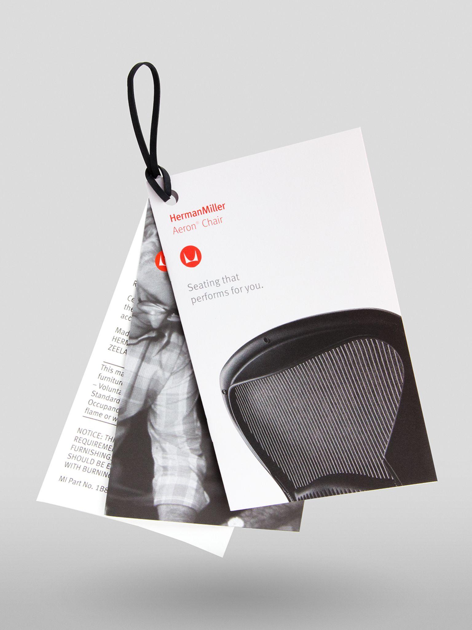 Herman Miller Hangtags Folder design, Tag design, Brand