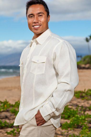 Mens Beach Wedding Linen Traveler Shirt : Island Importer