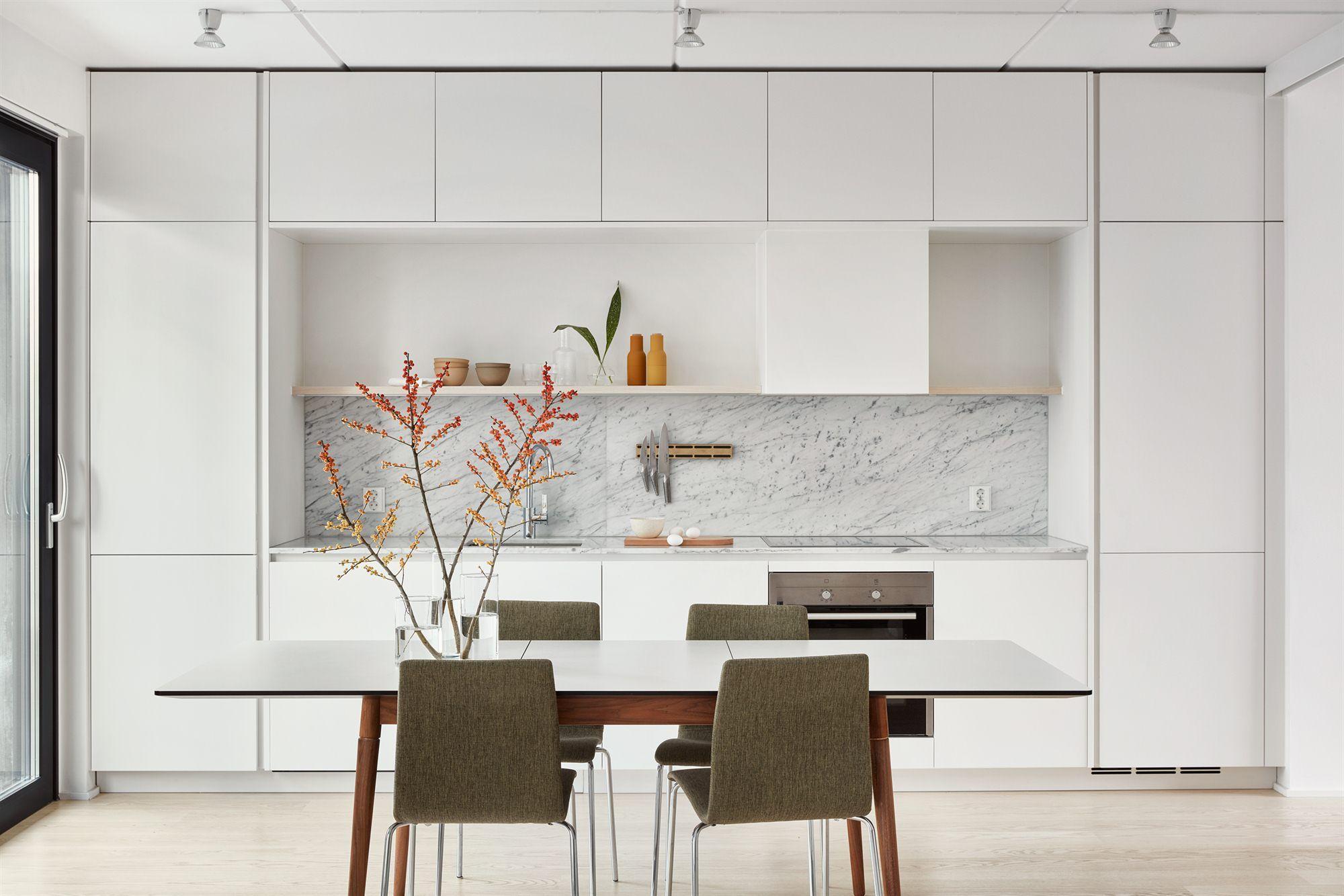 Kitchen Marble Perfect Interior Scandinavian Deco Sj Fartsgatan 6 -
