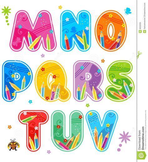 Alphabet Set Letters M - V - Download From Over 29 Million High ...