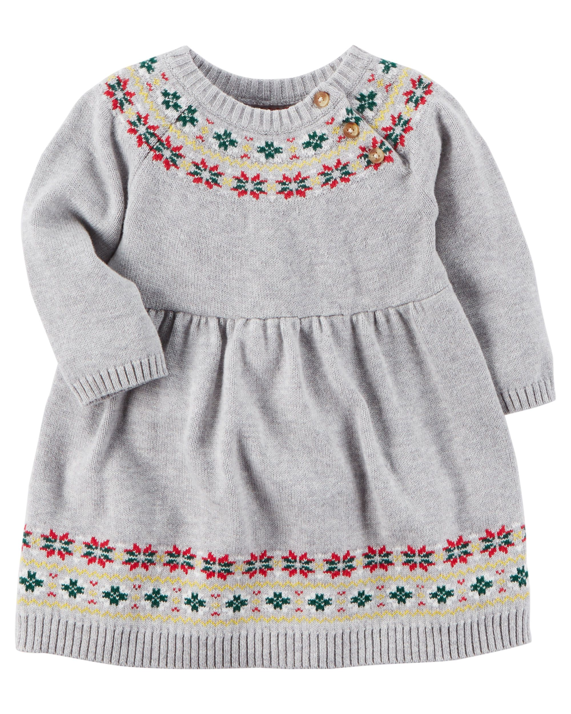 dff74d88057 Fair Isle Sweater Dress