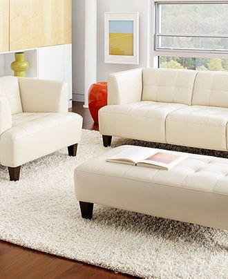 Alessia Leather Sofa Living Room Furniture Sets U0026 Pieces   Couches U0026 Sofas    Furniture