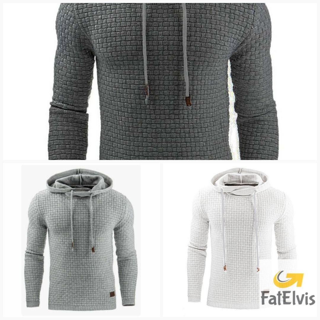 Casual Hoodies Brand Men Solid Color Hooded Sweatshirt Male Hoody