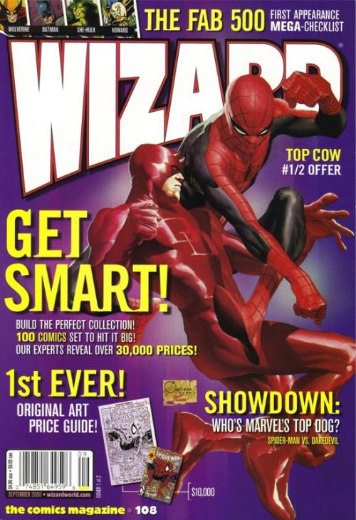Daredevil vs. Spider-Man (for Wizard magazine) by Joe Quesada, colours by Alex Ross *