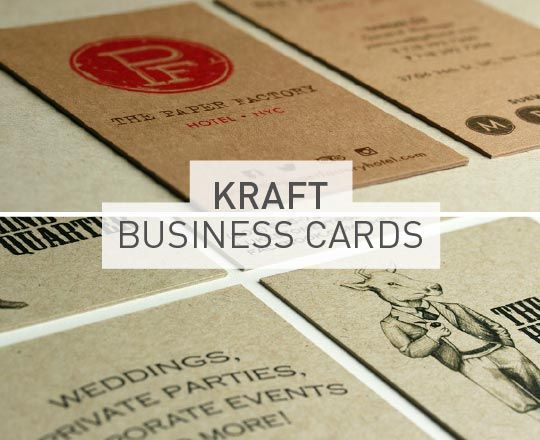 Kraft business cards printed on really thick paper two different kraft business cards printed on really thick paper two different types of neenah environment colourmoves Gallery