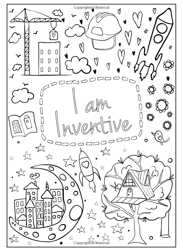I Am Confident Brave Beautiful A Coloring Book For Girls Hopscotch Girls 9780692927991 Amazon Coloring Books Coloring Pages Valentines Day Coloring Page