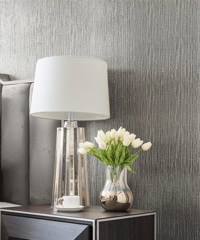 Muriva Couture Wallpaper / Serena Texture Silver / 12  Silver
