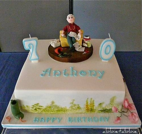 70th Birthday Cakes For Men Com Imagens Ideias