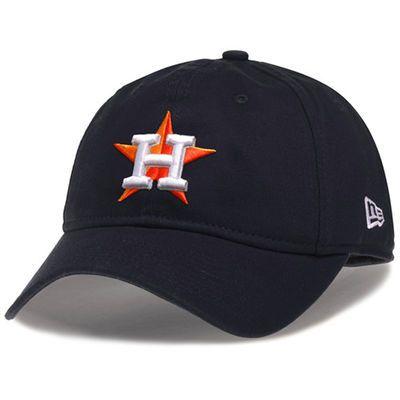 Women s Houston Astros New Era Navy Essential 9TWENTY Adjustable Hat ... 6dc4c2e0190c