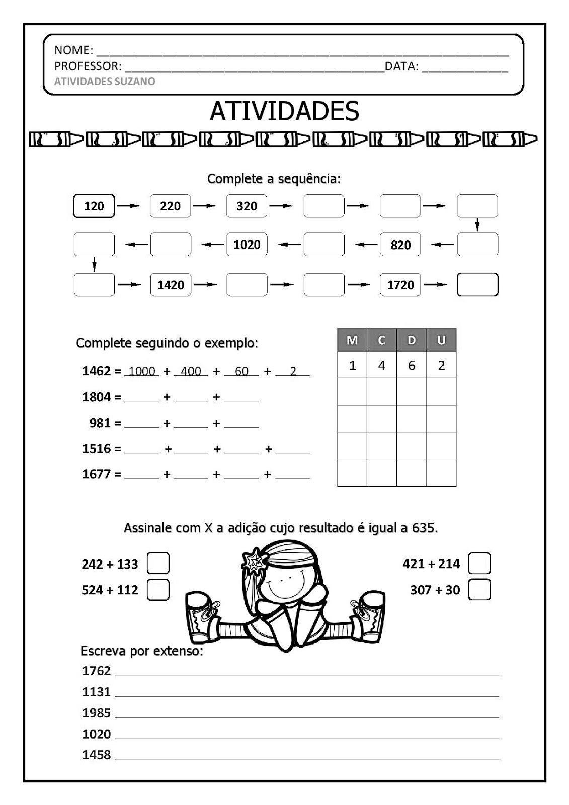 Pin De Janaina Campos Em Matematica Atividades De Matematica