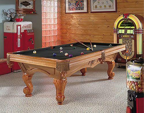 Brunswick Antique Pool Tables Black Felt