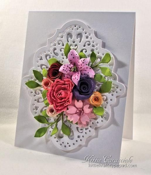 Leftovers Floral Bouquet by kittie747 - Cards and Paper Crafts at Splitcoaststampers