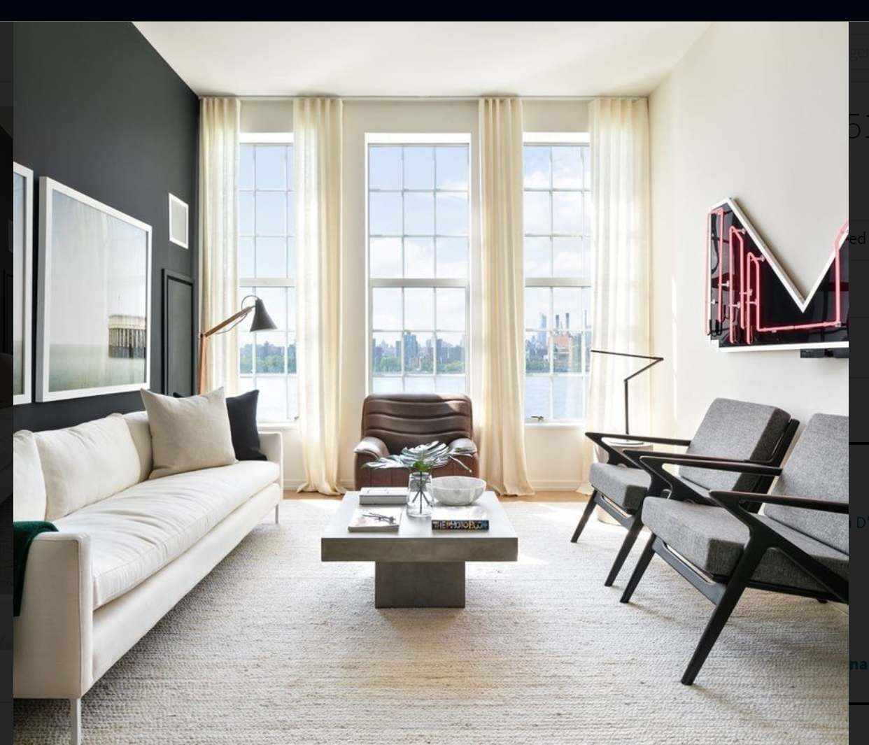Accent Wall With 2 Windows: Accent Wall: Two White Framed Photographs: One Long
