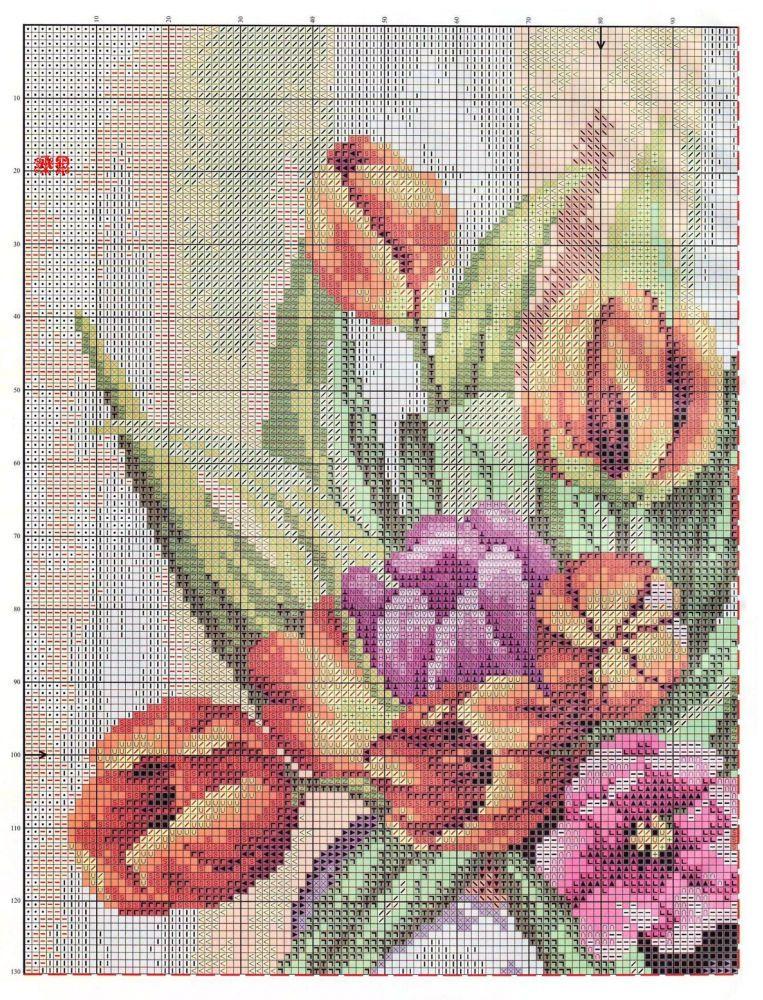 Solo patrones punto cruz cross stitch pinterest cross stitch flowers cross stitch - Videos de punto de cruz ...