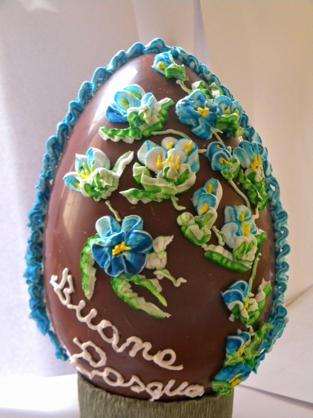 Cuocaeleonora uova di pasqua decorati uova di cioccolato decorati cake desserts food - Uova di pasqua decorati a mano ...