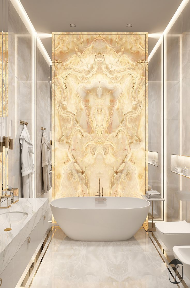If I Ever Make It Big A Wall Of Gold Luster Would Be A Necessity To Go With My Big G Badezimmer Innenausstattung Traumhafte Badezimmer Bad Inspiration