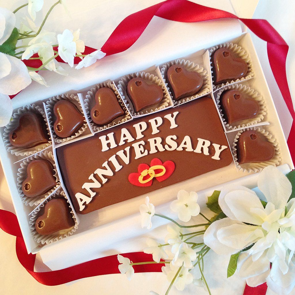 Chocolate Anniversary Gift. Unique And Delicious Way To