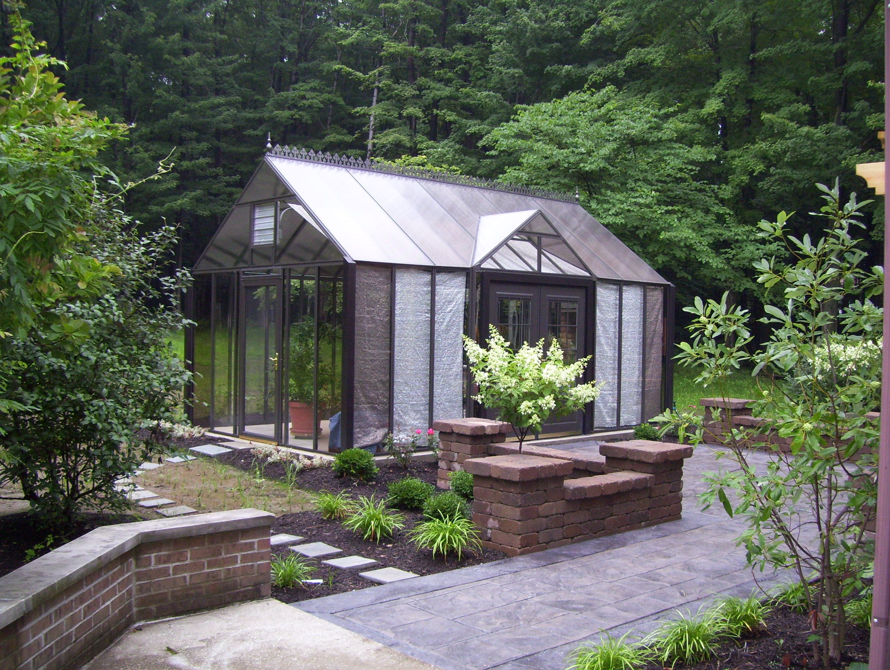 greenhouse garden Reverse Gable Attached Greenhouse Dream