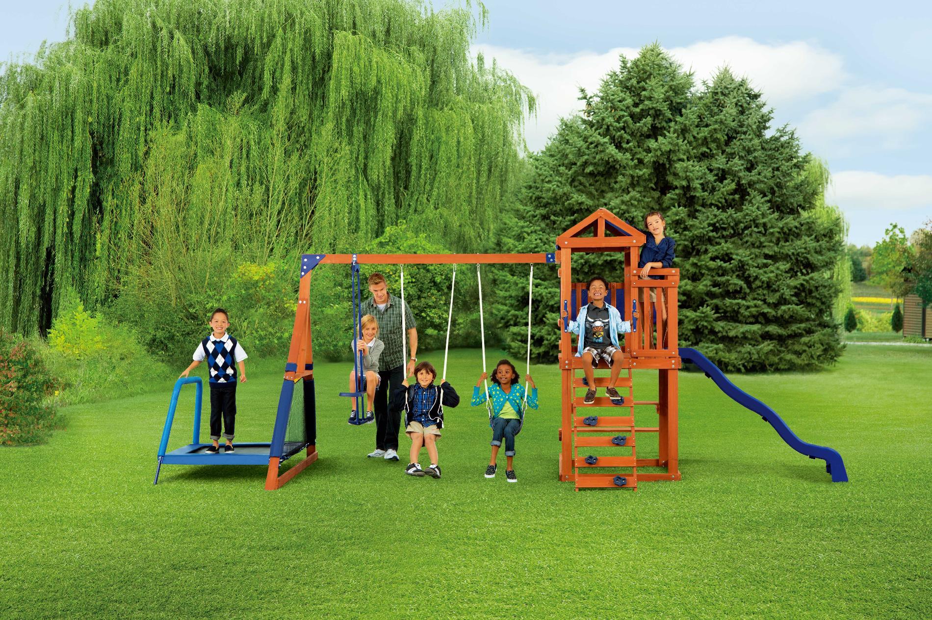 Sears Com Swing Set Backyard Trampoline Wooden