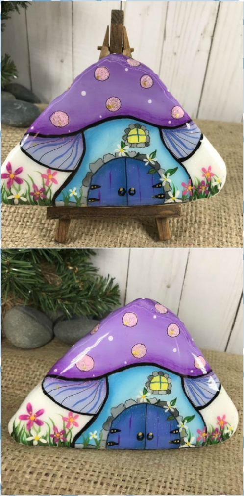 Painted Rock Fairy Houses Pinterest Top Pins Best Ideas, Category #Painted #Rock #Fairy #Houses…