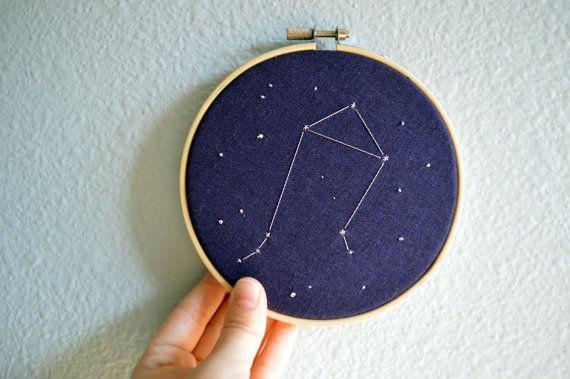 Custom Zodiac Constellation Embroidery