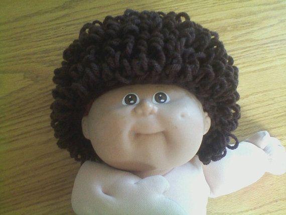 Unique short hair Cabbage Patch wig/hat
