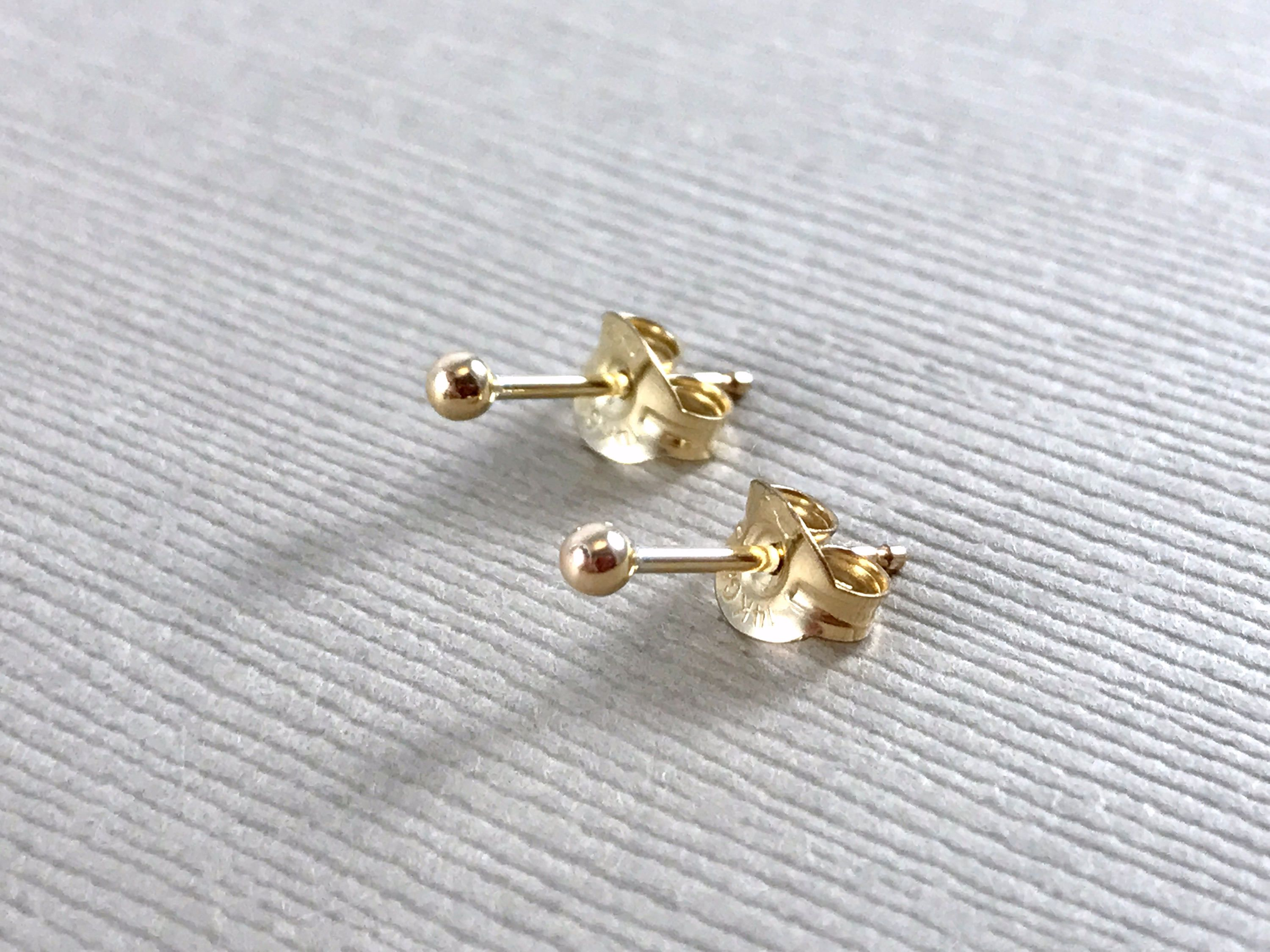 baguette simple and p solid products earring rose gold oro vrai web diamond earrings