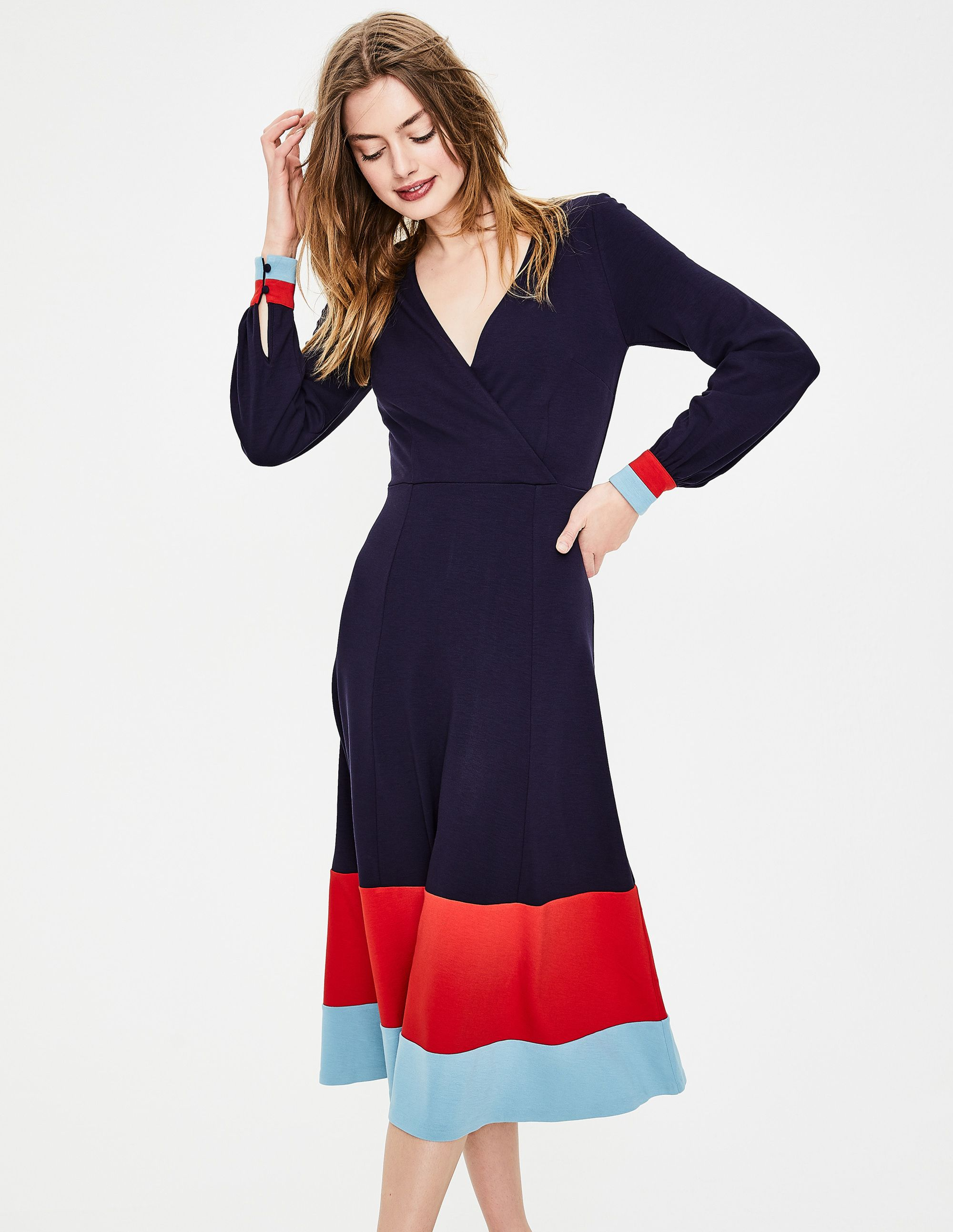 Magnolia Jersey Midi Dress J0228 Occasionwear At Boden Smart Day Dresses Navy Midi Dress Latest Fashion Dresses [ 2586 x 2000 Pixel ]