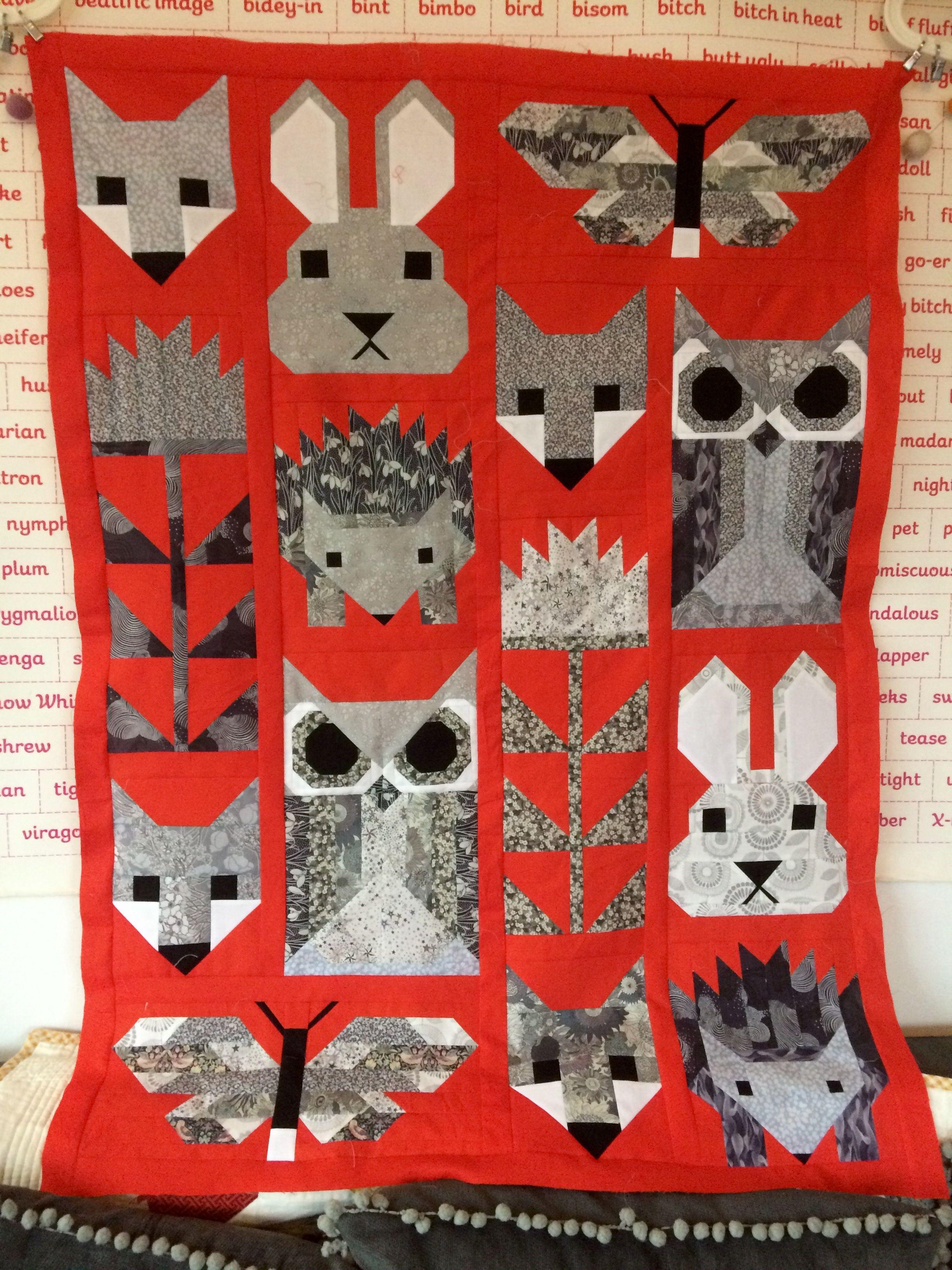 Fancy Forest Pattern By Elizabeth Hartman Bright Orange
