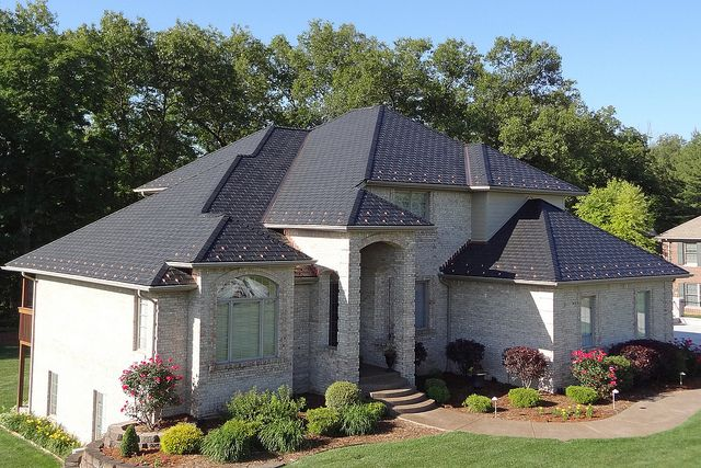 Georgetown Indiana Residence Slate Roof American Roofing Roof Installation