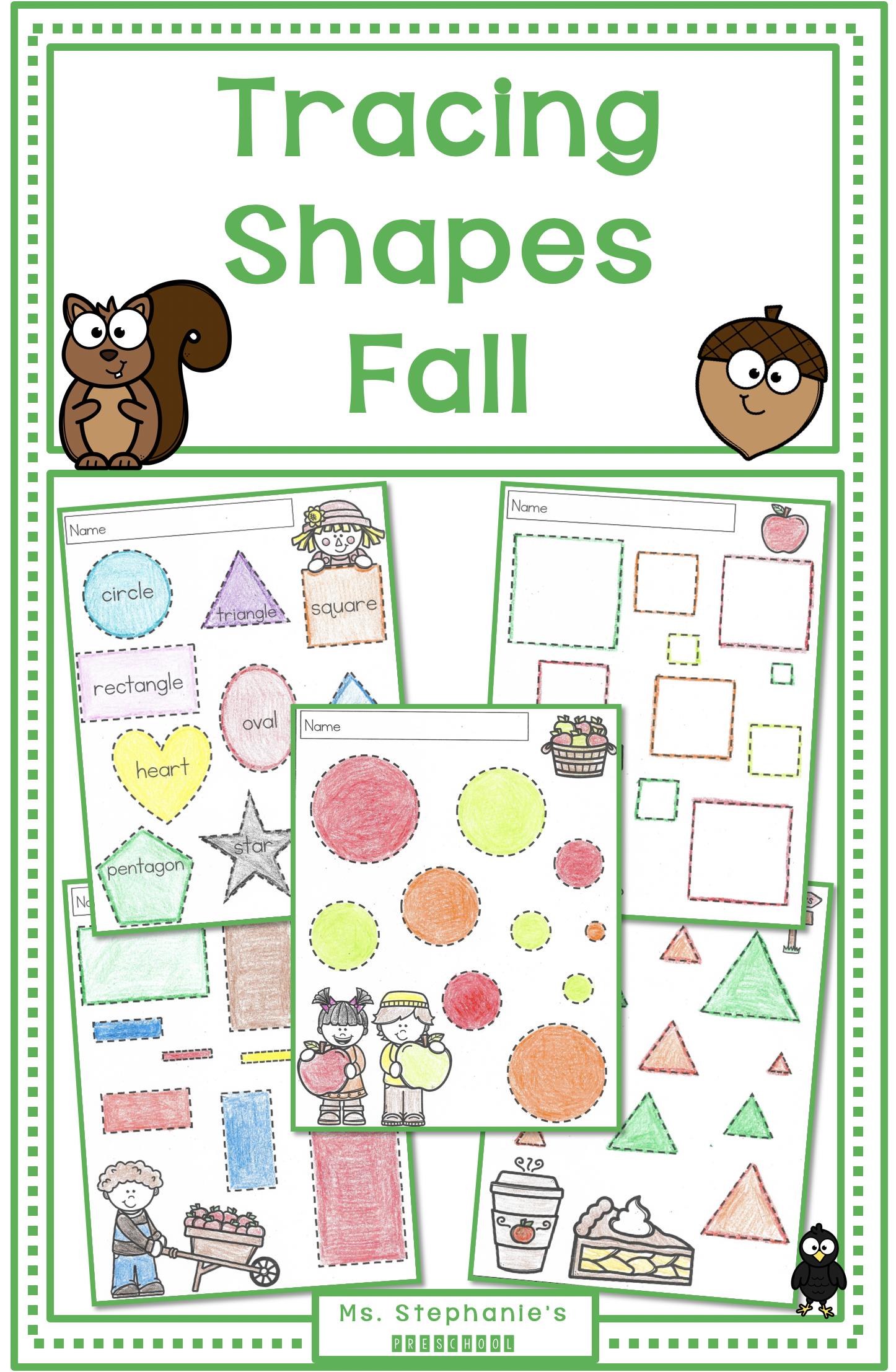 Tracing Shapes Fall Tracing Shapes Fall Worksheets Shapes [ 2214 x 1446 Pixel ]