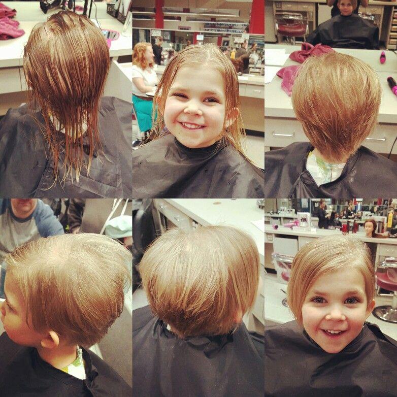 Little Girl Asymmetrical Pixie Cut Hair By Me Pinterest Hair