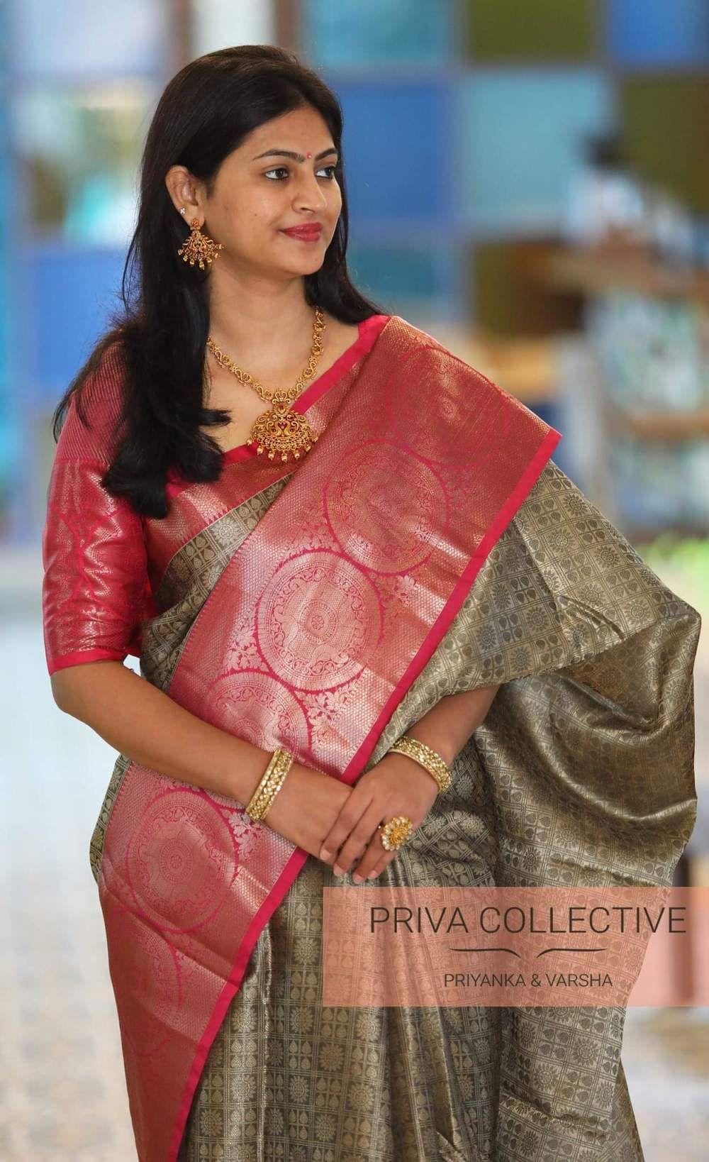 1813b621b3 Navratri Festive collection by Priva Collective – Fashionsthree Orange Saree,  Georgette Sarees, Kanjivaram Sarees